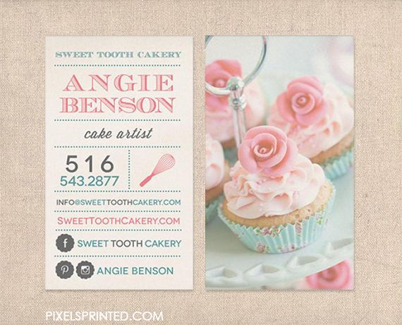Custom Cake Business Cards Image Collections Card Design And Ideas For Decorating Images