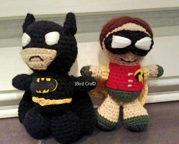 Batman and Robin (7.5 inch, crochet)