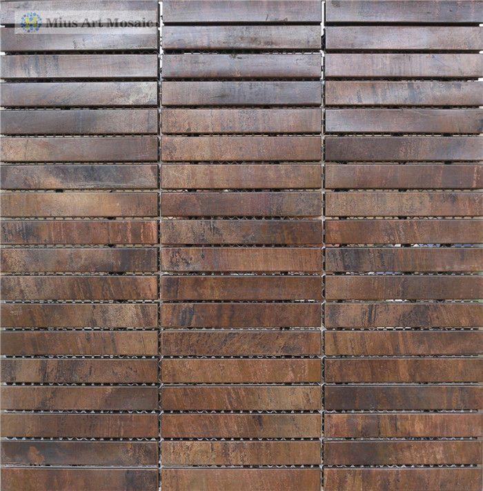 Aliexpress.com : Buy Strip  bronze  backsplash  tiles A6YG73 from Reliable backsplash tile suppliers on  Mius Art Mosaic