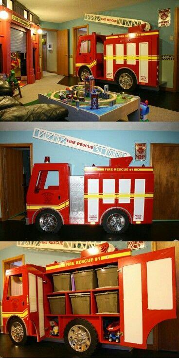 14 best kids spaces fire trucks images on Pinterest Fireman