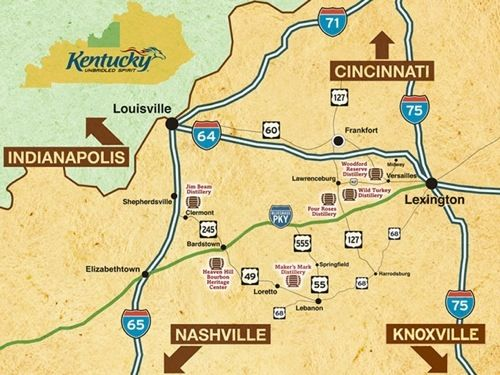 12 best all around me images on pinterest kentucky for Ky bourbon trail craft tour map