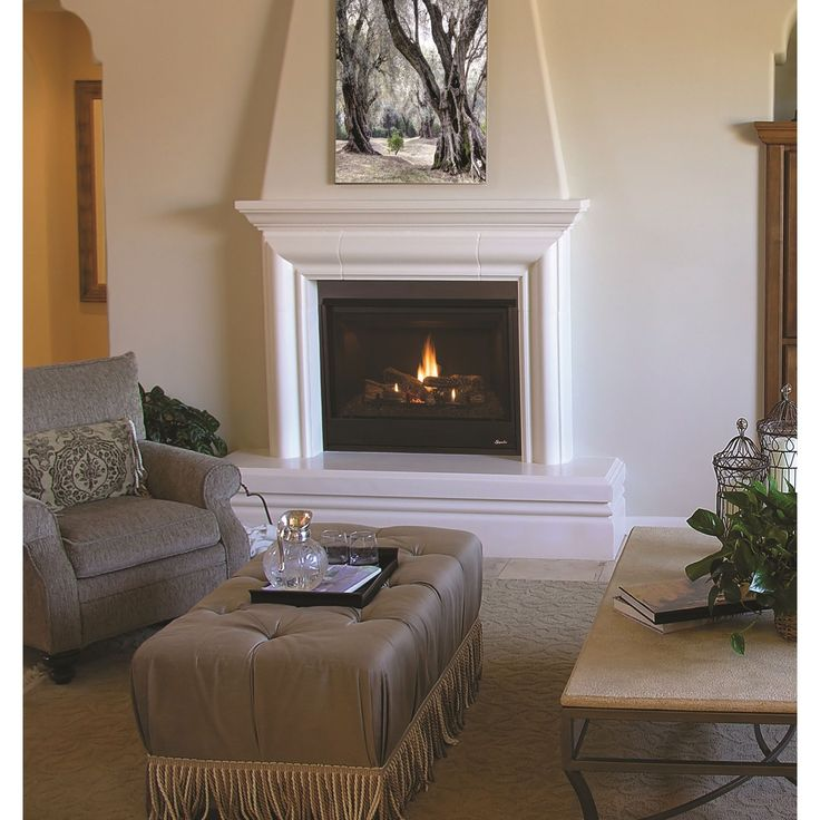 Innovative 40 Superior Direct Vent Fireplace (Natural Gas), Black (Glass)