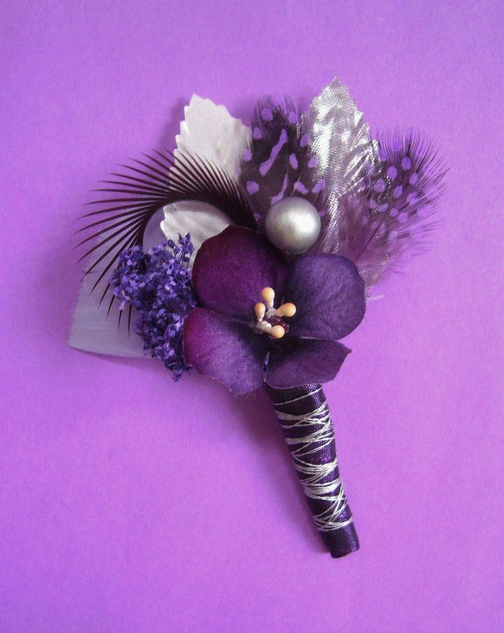 lavender boutonniere - photo #44