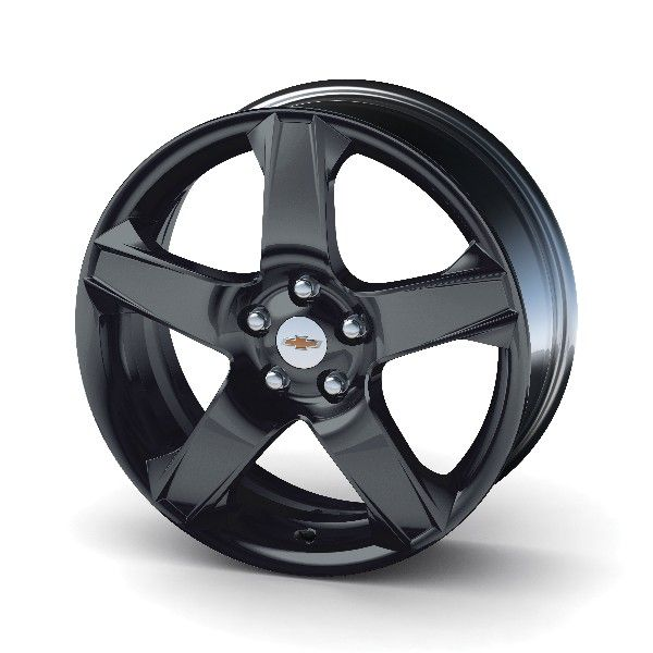 Sonic 17 in Wheel, Black, Style JA975, Single:Customize your Sonic with these 17 inch White painted 5-spoke aluminum wheels, validated to GM specifications. 17 inches x 6.5 inches. Use only GM-approved tire (Hankook Optimo H428 P205/50R17, BW89H) and wheel combinations.