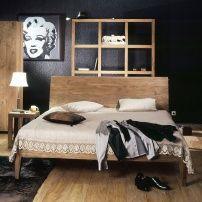 Кровать из массива тика Sorento Queen Простая и практичная кровать в светлых тонах. Слегка выгнутая спинка и скошенные ножки делают её элегантной и изящной. Отделка - grey. Размер матрасного места Queen(160x200), King(180x200) http://www.teakhouse.ru/ru/mebel/krovati/?cid=40