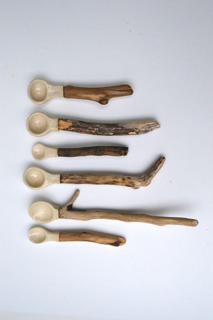 Porcelain Driftwood spoon -
