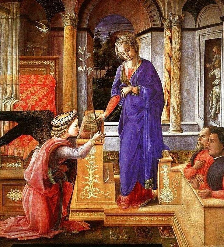 FRA FILIPPO LIPPI Anunciación (1440) Galería Nacional de Arte Antiguo, Roma.