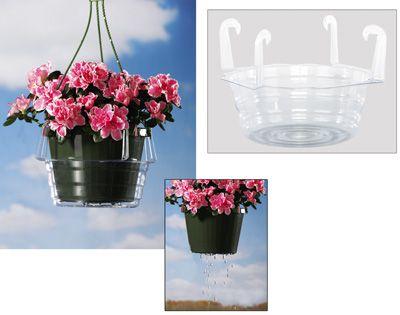 Hanging Planter Basket Water Catchers Clever Idea