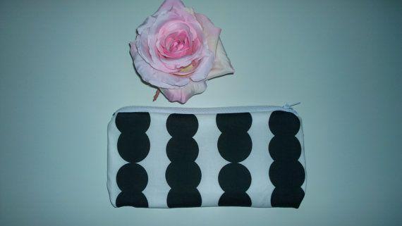 Wallet / mini purse Mayadesign Retro Black by MayaDesignFinland
