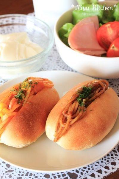 冷凍食品でお手軽に!焼きそばパン&ナポリタンパン by みゆKitchen ...
