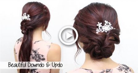 Homecoming Prom Bride Wedding Hair Tutorial l Beautiful Hairstyles for Medium Size