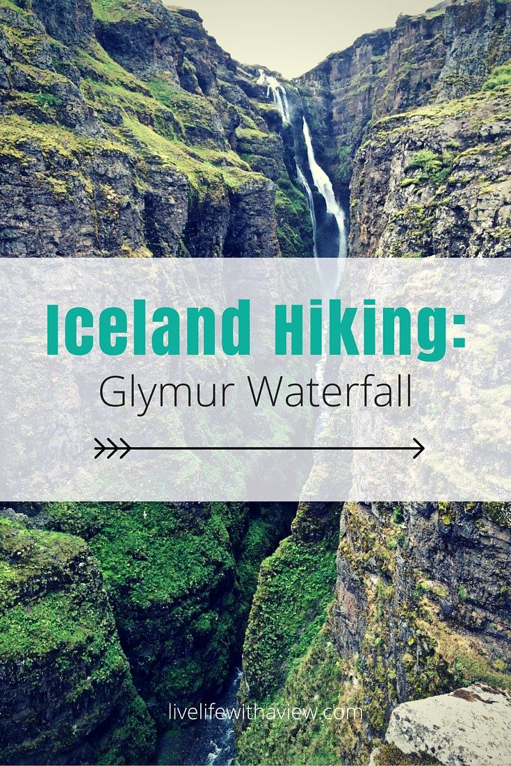 Iceland Hiking - Glymur Waterfall the highest waterfall in Iceland! How to hike to get to the falls including a river crossing | Life With a View