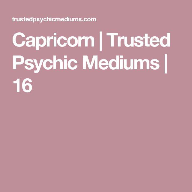 Capricorn | Trusted Psychic Mediums | 16