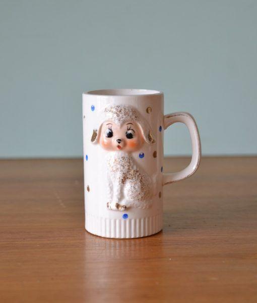 Vintage kitsch lamb cup mug Superior ceramics Japan