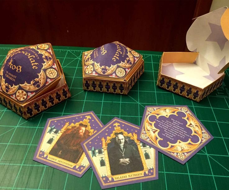 On my quest to make awesome Honeyduke's Chocolate Frog boxes, I ended up having to Photoshop my own template for printing. Once I did this, I obviously needed Chocolate Frog cards to match. So, I took to Photoshop once again to create these cards to match my Chocolate Frog box template. I've included a zip file of my Chocolate Frog cards for you use with this tutorial. You'll need to download and extract these files before continuing.Also, make sure you have the following: A cutting pad An…