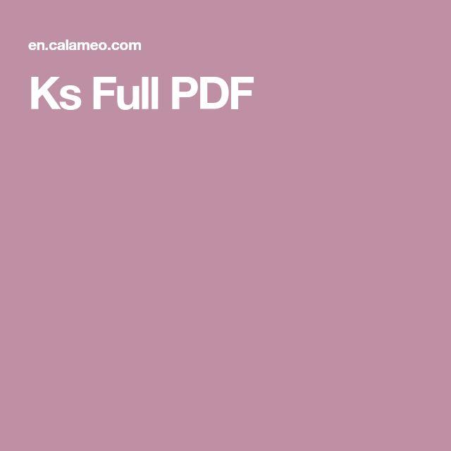 Ks Full PDF