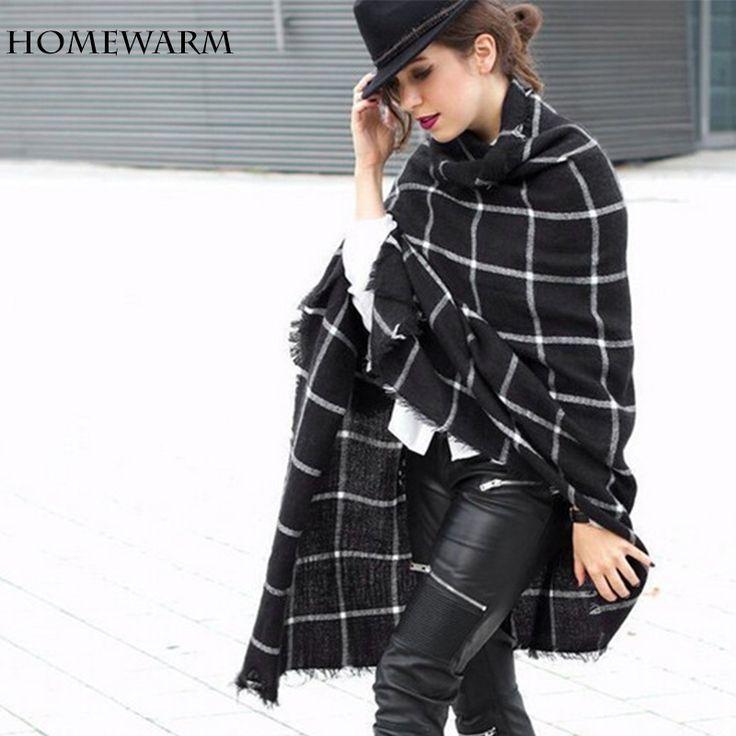 Sjaal Vrouwen sjaals Plaid Wrap Shawl winter sjaal luxe merk voor vrouwen foulard deken sjaal Dikker Zachte Fashion bandana