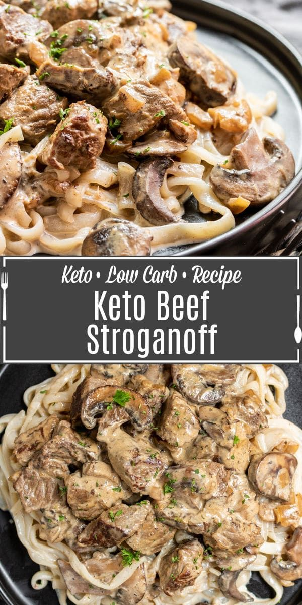 This Easy Keto Beef Stroganoff Is A Classic Comfort Food Recipe Made With Beef Mushrooms And A Creamy Sour Cream Sauce It In 2020 Stroganoff Beef Stroganoff Recipes