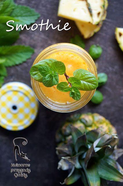 Kulinarne przygody Gatity: Smoothie ananasowe z mango i cytrusami