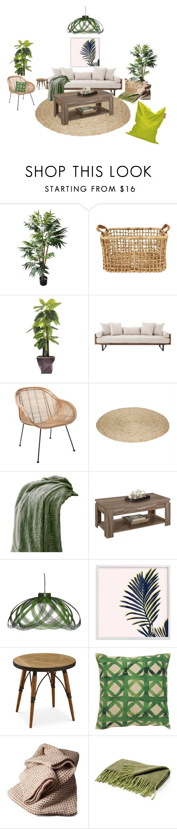 """""""simple tropical"""" by spot-light ❤ liked on Polyvore featuring interior, interiors, interior design, home, home decor, interior decorating, TradeMark, Laura Ashley, ACME and Jaipur"""