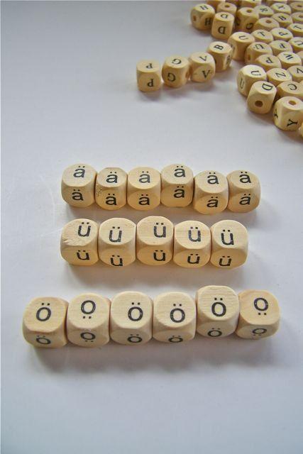 German umlaut  beads - 17 - free shipping
