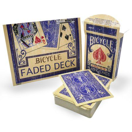 Magic Makers Faded Rider Back Blue Bicycle Deck