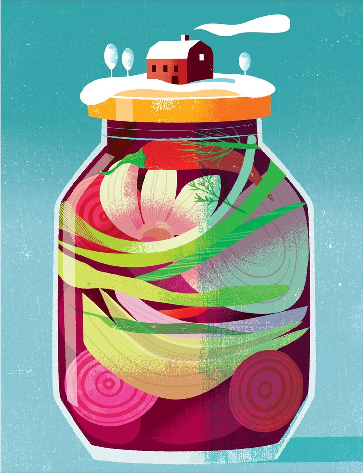 fermented vegetables for the wintery times #fermented#vegetables#snow