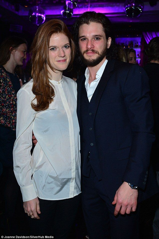 Handsome couple: Kit Harington was busy enjoying a successful performance during the gala ...