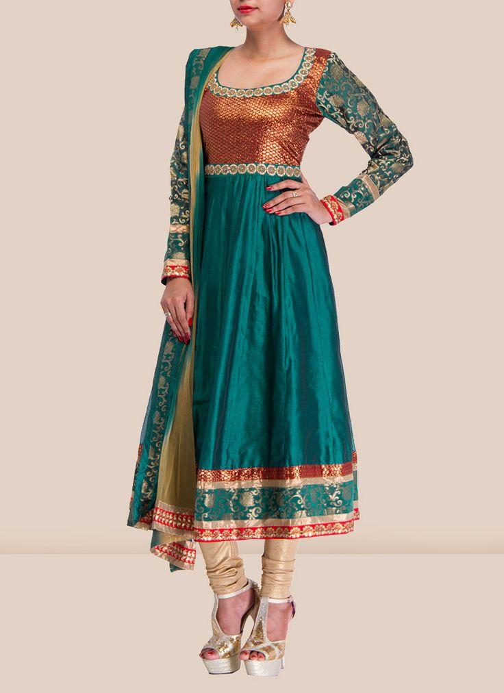 Trendy Look Chanderi Anarkali Suit