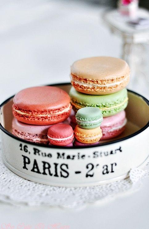 Parisian macaroons. How lovely!