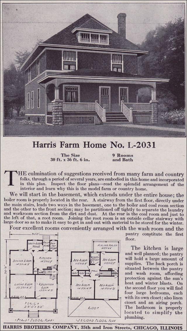 1918 Harris Bros. Co. - Plan No. L-2031