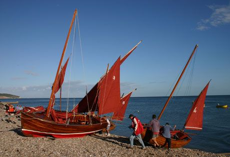 Beer Regatta in August where distinctive Beer luggers with striking red sails are always an imposing sight | Beer, Seaton, Devon