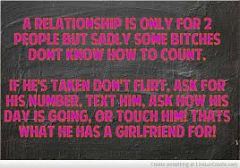Seriously!!! I swear [EX] girlfriends don't get it... If you'd have kept him happy, you wouldn't be an ex. If you mess with my man, you will see the kind of bitch I can be. Get a life!