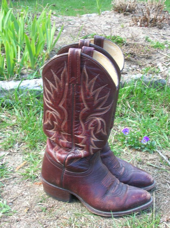#SALE#boots#cowboy#cowgirl   25 PERCENT OFF  Ox Blood Cowboy boots by StarfishandRose