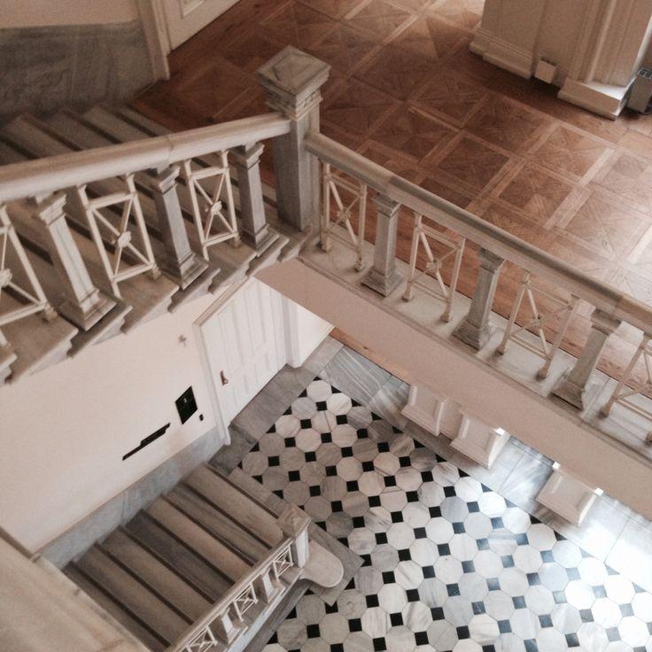 Salt Galata | Stairs and floor coating detail