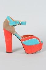Victoria-14 Colorblock Peep Toe SandalColorblock Peep, Toes Sandals, Victoria 14 Colorblock, Style W Accessories, Toes Front, Peep Toes, Colorblock Sandals