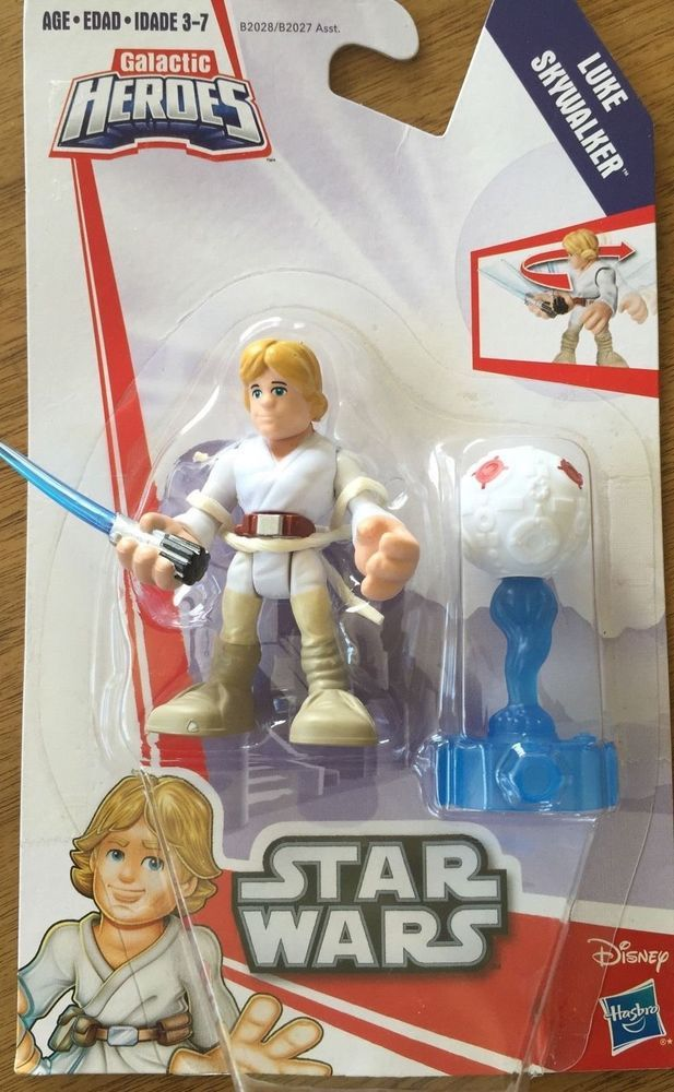 STAR WARS Galactic Heroes LUKE SKYWALKER Twist-n-Strike Action Figure Hasbro NEW #Hasbro