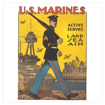 love the vintage recruiting posters