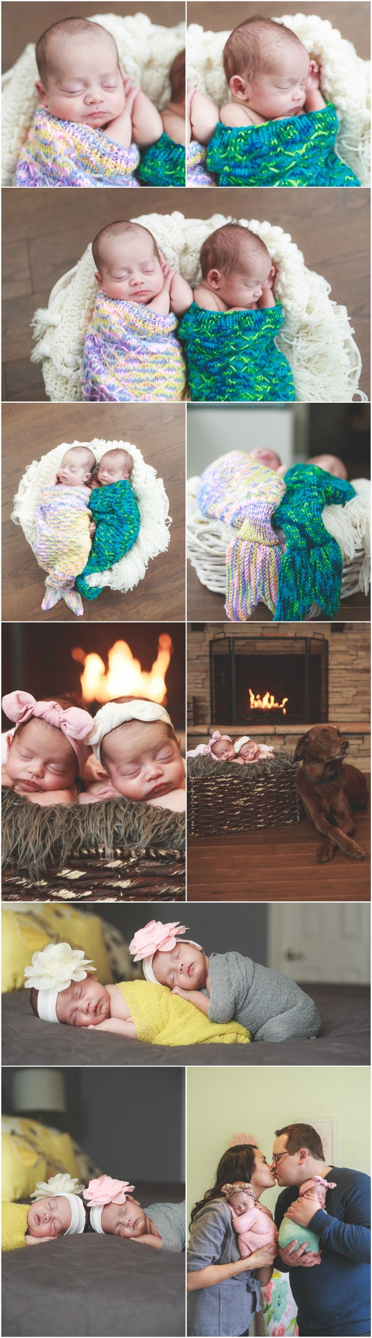Twin Newborn Photography Ideas and Inspiration   Newborn Poses   Denver Newborn Photographers   Newborn Baby Twins Portraits