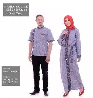 Baju Couple HAI-HAI GM-08 & KK-08 Dark Grey