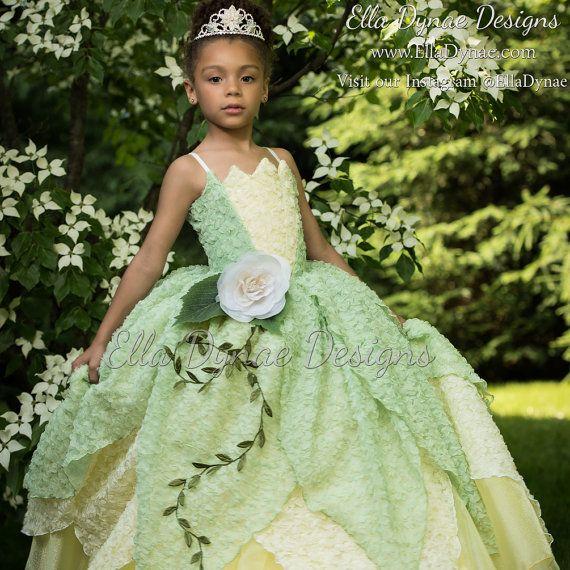 Tiana Costume Princess and The Frog Gown Tutu Dress от EllaDynae