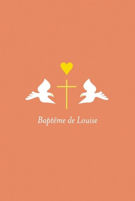 Faire-part de baptême (baptism card) : Colombes - by Tomoë pour http://www.fairepartnaissance.fr #bapteme #baptism