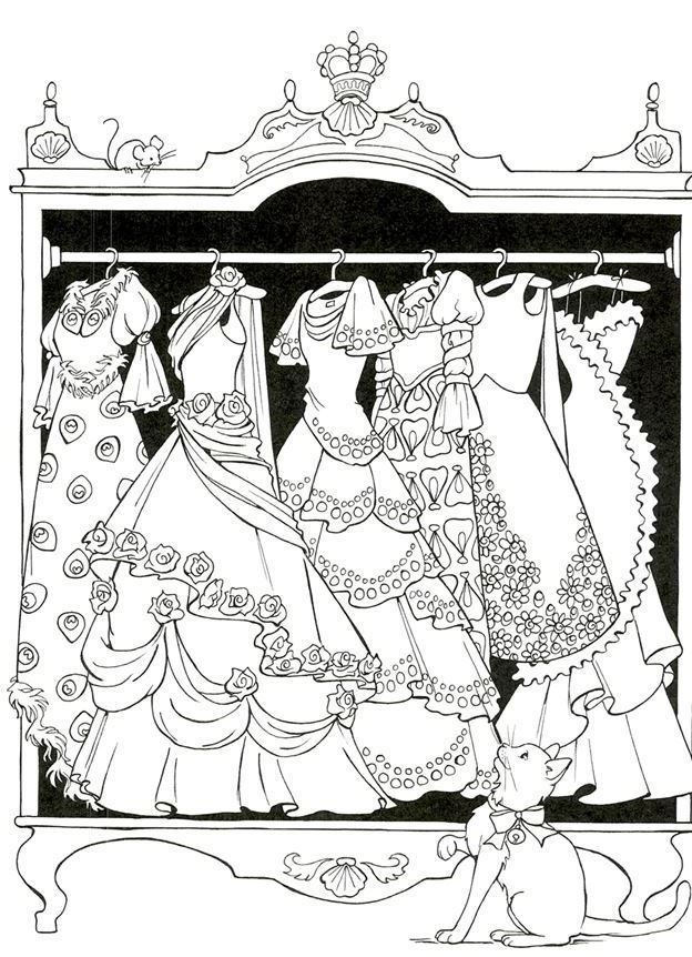 308 best Fashion Coloring Pages for Adults images on ...