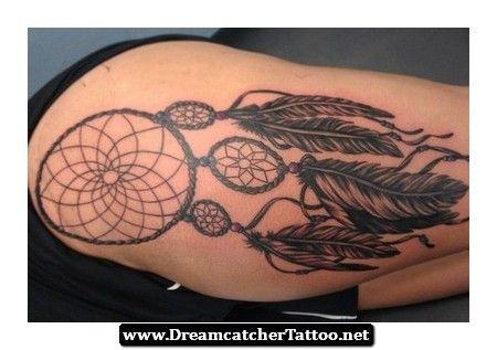 Dreamcatcher Tattoos Thigh 12 - http://dreamcatchertattoo.net/dreamcatcher-tattoos-thigh-12/