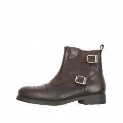 HELSTONS TRAIL Cuir Aniline Maron - Motorcycle shoes