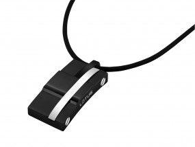 Lotus Style Halskette Kautschuk schwarz LS1316-1/2
