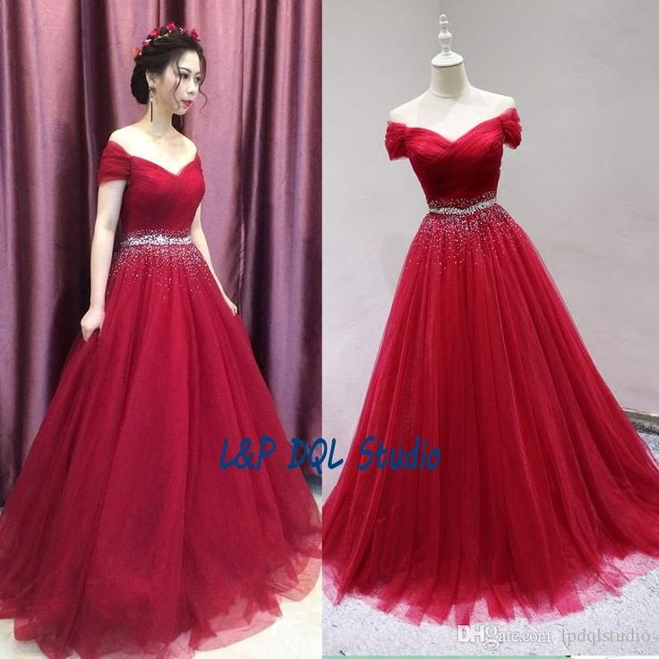 Red Ball Gown Prom Dresses Cheap