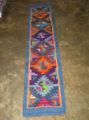 #Peruanischer #handgewebter #Teppich mit #Rauten, 150 x 30 cm