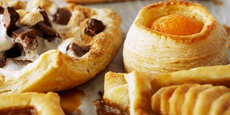 Three Easy Individual Tarts - Apricot Almond Vol au Vents, S'mores Tarts, &   Salted Caramel Pear Tarts