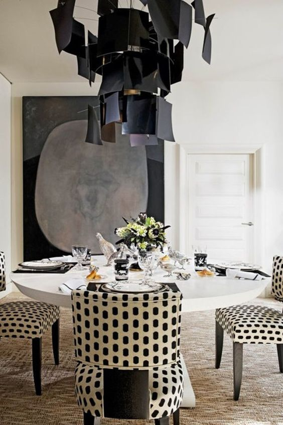 Best 25 Black Dining Tables Ideas On Pinterest  Black Dining Amazing Black And White Dining Room Inspiration